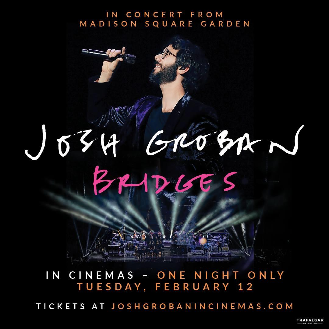 Josh Groban In Concert From Madison Square Garden In Theaters On