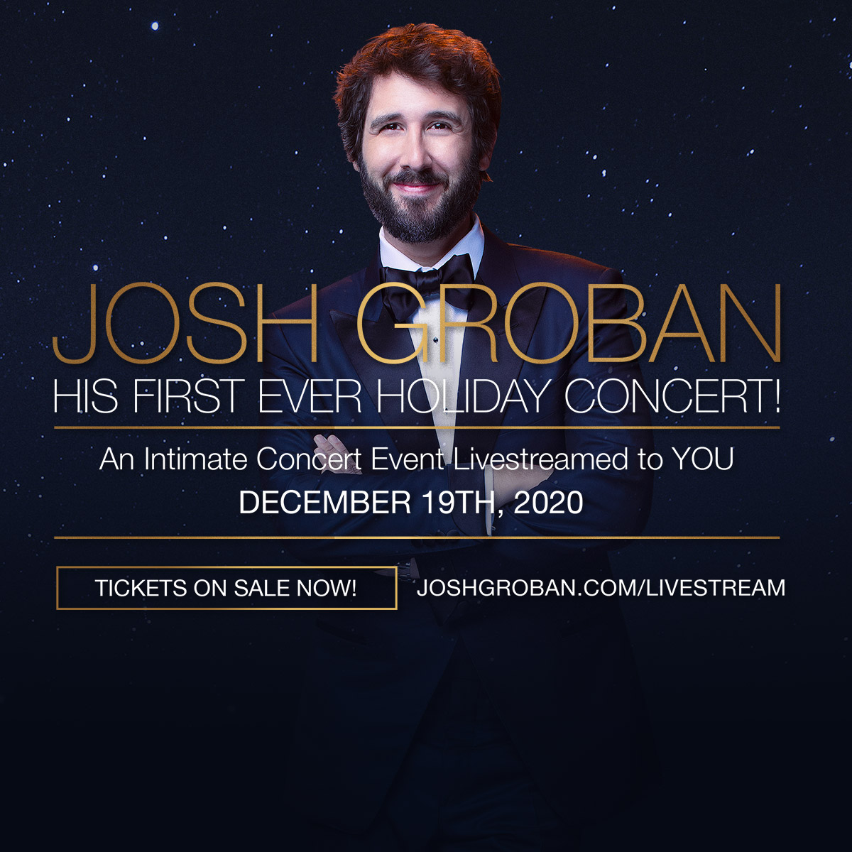 2020 Christmas Specials Featuring Josh Groban The official website of Josh Groban for news, tour info and